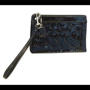 Coach Wristlet/ Wallet Black Patent Leather